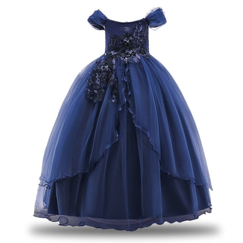 Toddler Girl Princess Flower Dress Gown
