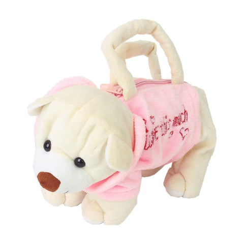 Plush Doggie Toy Handbag for Girls