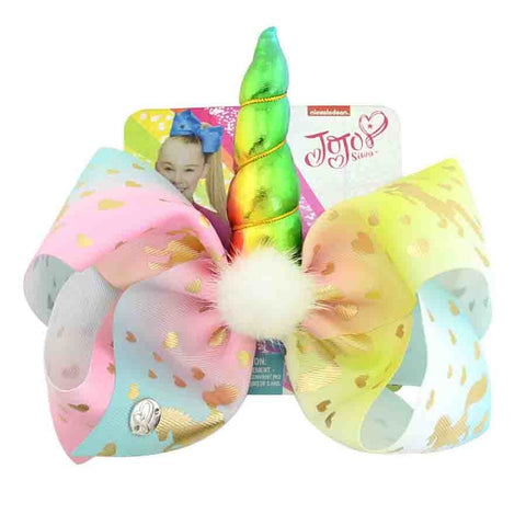 8inch Unicorn Hair Bows With Alligator Clip for Kids Hair Accessories