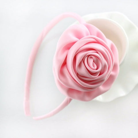 1 piece Rosette Satin Flower Hairband for Girls