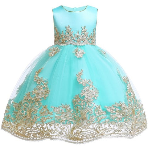 Princess Dress Gown for Baby Girl(2-12 Years)