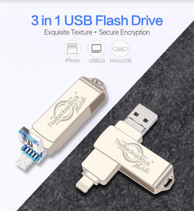 TheBackupStick Mobile USB Flash Drive 3.0 for iPhone