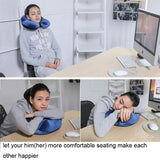 U-Shape Inflatable Neck Pillow Travel Accessories