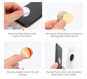 Metal Magnet Sticker Mobile Stand Phone Holder