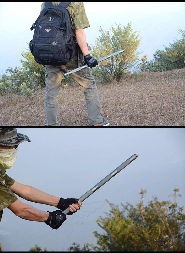 Outdoor defense Tactical Stick | Multifunctional folding Tools for Hiking Camping Walking