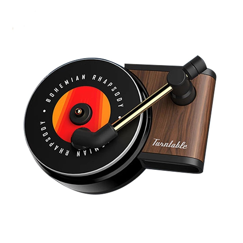 Turntable Phonograph Car Air Freshener with Aromatherapy Tablets