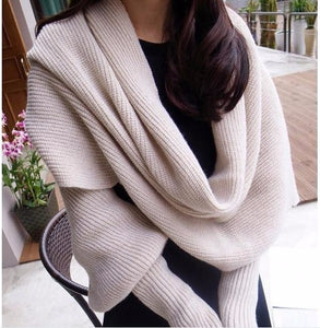 Multi Style Thick Warm Wool Scarves For Men And Women