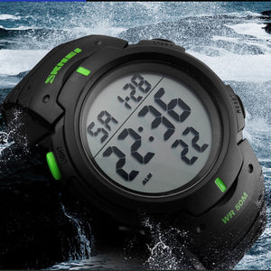 Dive 50m Digital LED Military Wristwatch