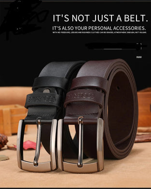 High Quality Luxury Designer Cowhide Leather  Belt