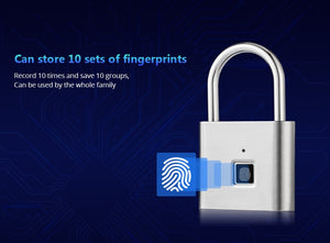 Smart Keyless Fingerprint Lock | Strong Zinc Alloy Metal | Quick Unlock