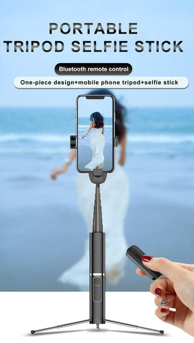 3 in 1 Remote Control Shutter Wireless Bluetooth Tripod Selfie Stick