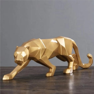 19 Inch Panther Modern Sculpture Figurine For Home Office Decoration