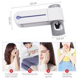 2 in 1 UV Light Toothbrush Sterilizer With Automatic Toothpaste Dispenser