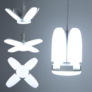 Led Lamp Ceiling Home | Garage Lighting - Foldable & Adjustable Fan Blade