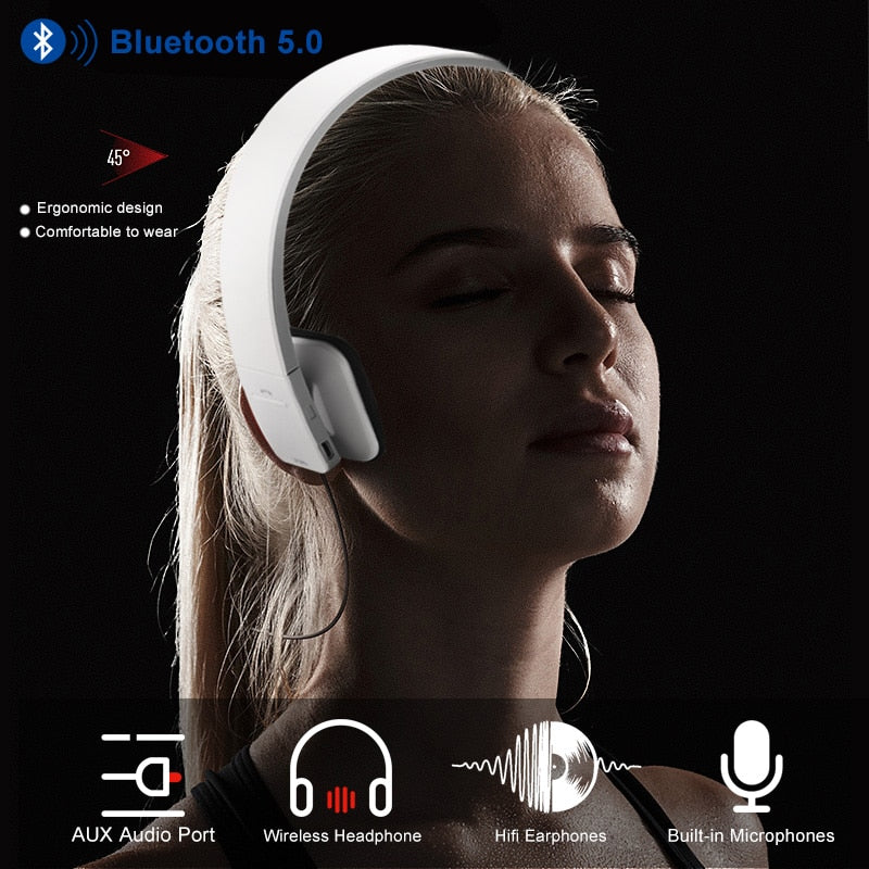 Wireless Bluetooth Stereo Headphone With Built-in Microphones
