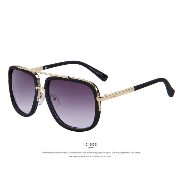 Fashion Metal Square Men Sunglasse UV400