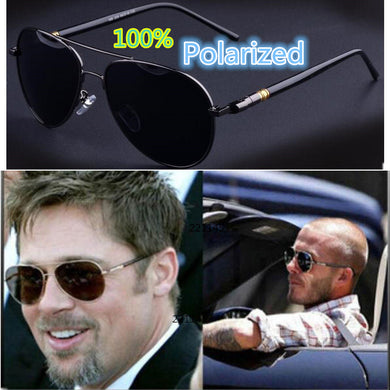 Classic Round Polarized Men Sunglass Metal UV400