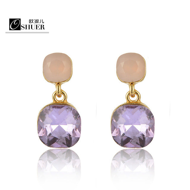 New hot Fashion Luxury Crystal  Stud Earrings