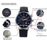Leather Strap Military Quartz Sports Wristwatch