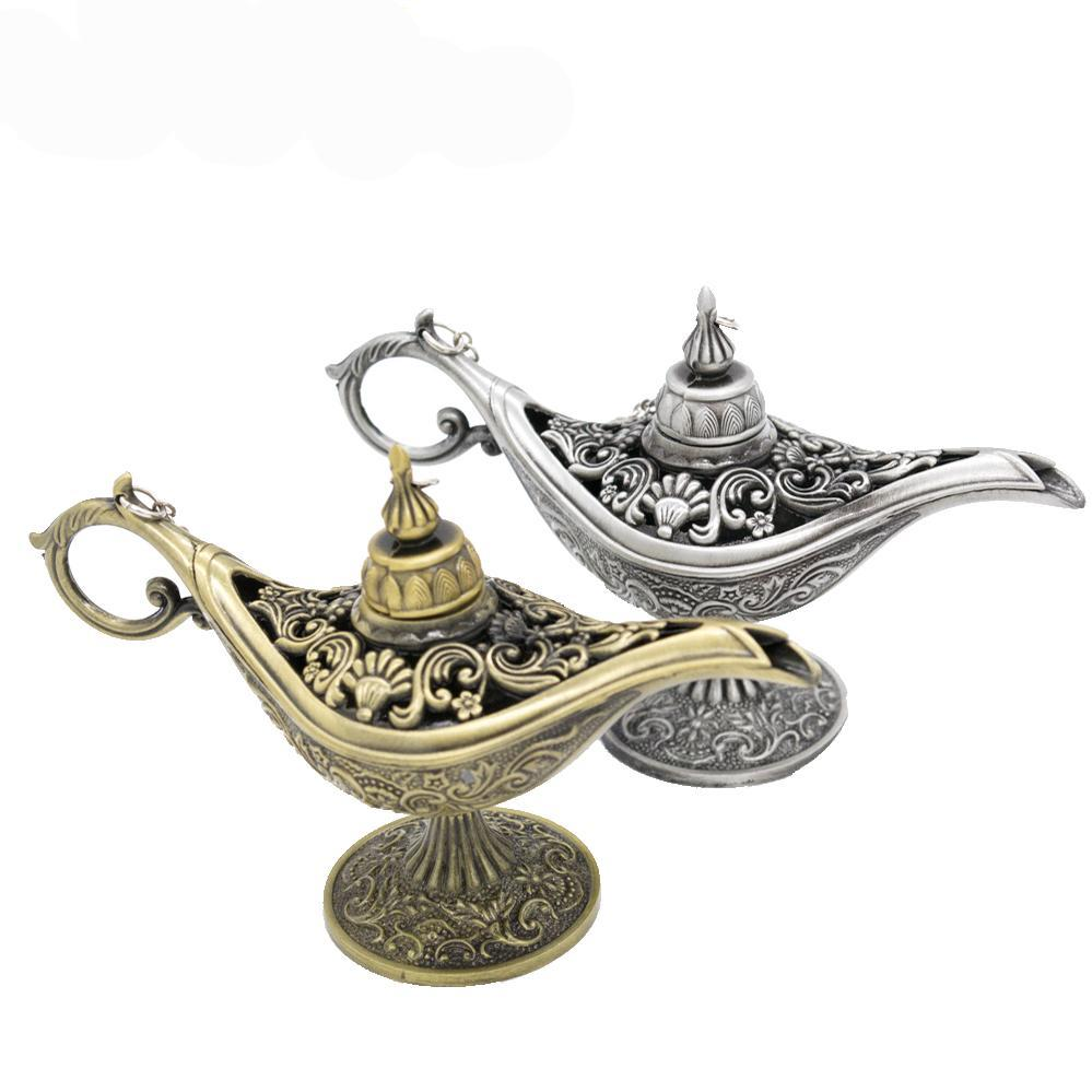 Classic Rare Hollow Legend Aladdin Magic Genie Lamps with Incense