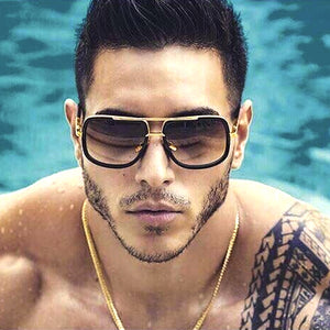Oversize Square Celebrity Sunglasses for Men
