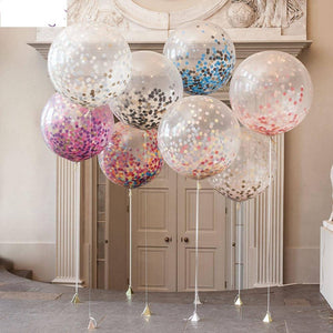 Large Confetti Balloon Multicolor Latex Balloons