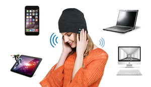 Bluetooth Beanie with Wireless Music Headset