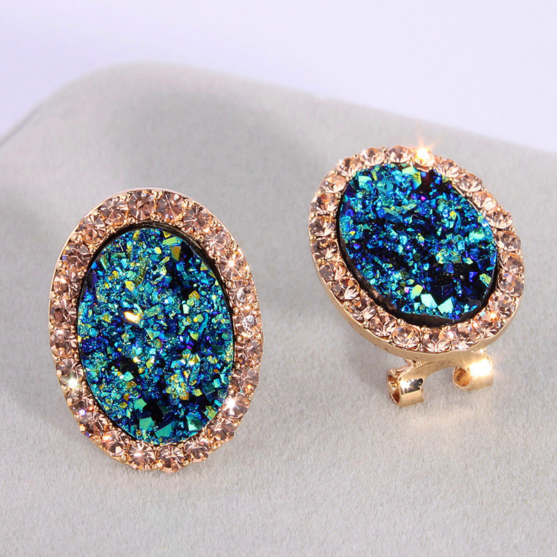Crystal  Round Stud Earrings For Women