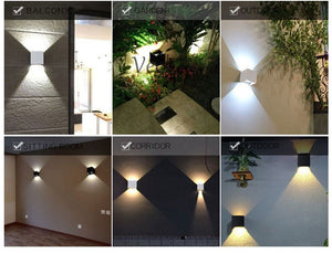 Waterproof 6W indoor outdoor Led Wall Lamp