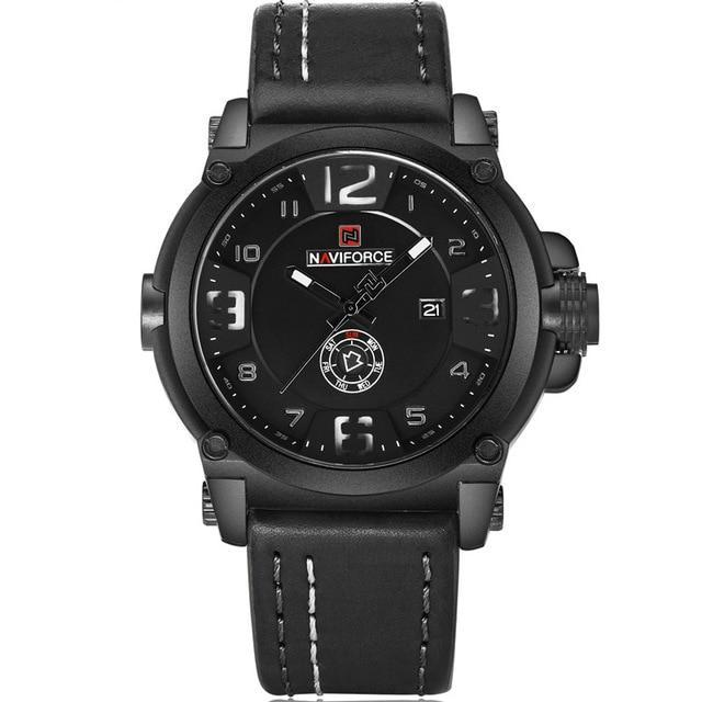 Waterproof Militray Sport Leather Quartz Watch