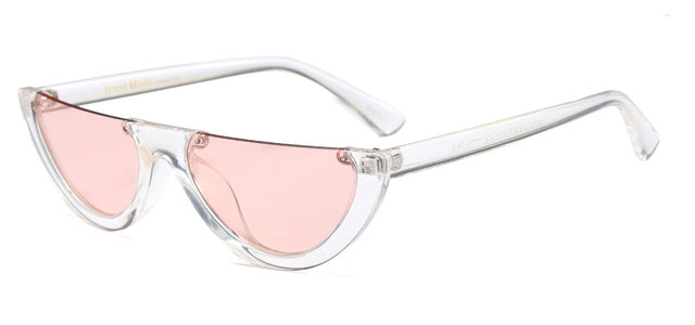 Vintage half frame sunglasses women cat eye UV400