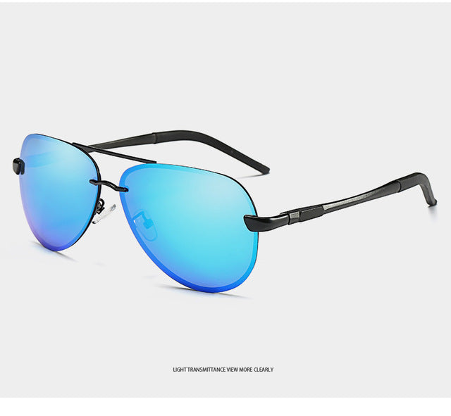 Designer Polarized Rimless Men Sunglasses For Women Uv400