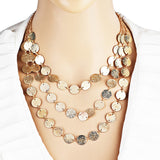 Gold Color Coin Necklaces & Pendants Sweater Chain Long Necklace
