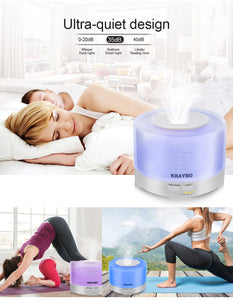 Remote Control Ultrasonic Air Aroma Humidifier With 7 Color LED Lights