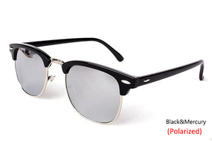 Vintage Semi-Rimless Brand Designer Polarized UV400  Sunglass