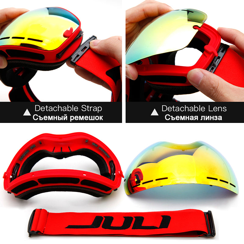 Winter Snow Sports Snowboard Goggles with Anti-fog UV Protection