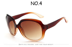 Retro Classic Oval Shape Sunglasses for Women