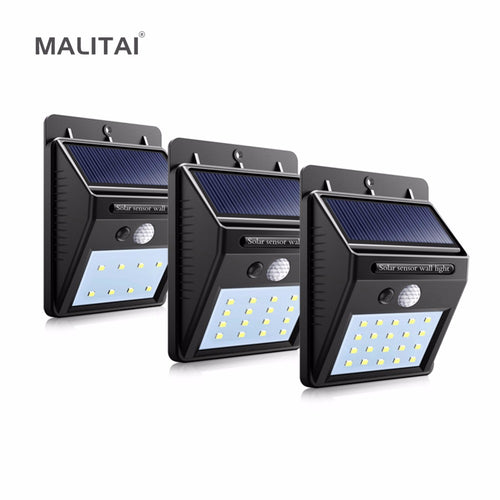 Solar Sensor Wall Light for Outdoor Garden, Night Security