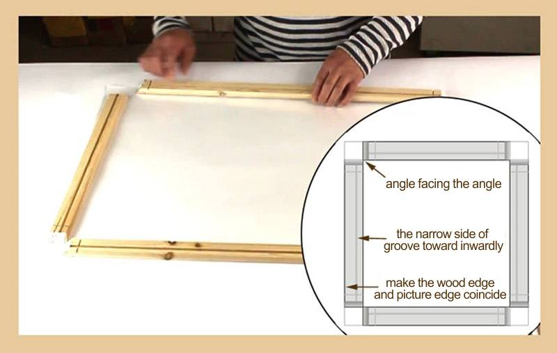 Natural Wood Frame For Canvas Painting