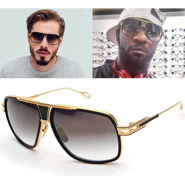 Metal Frame Star Style Sunglasses for Men