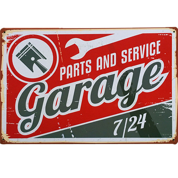 Metal Vintage Garage Plaque Retro Wall Letter Display 20x30cm