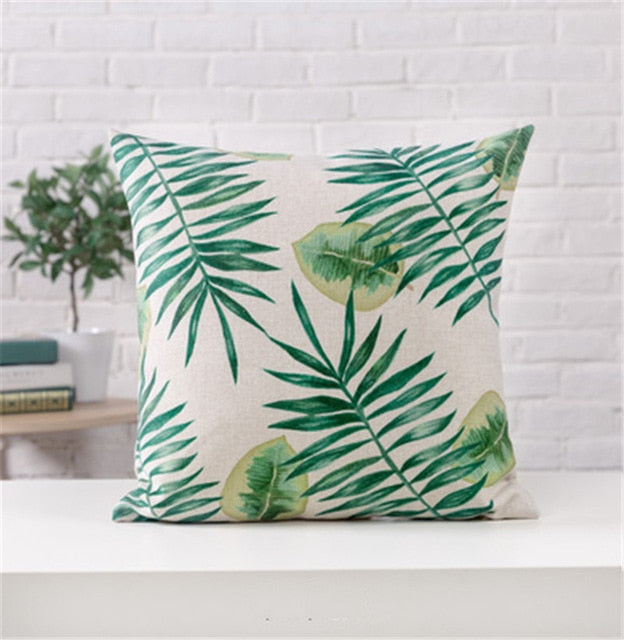 Tropical Pillow Cover Cushion Case 45x45cm