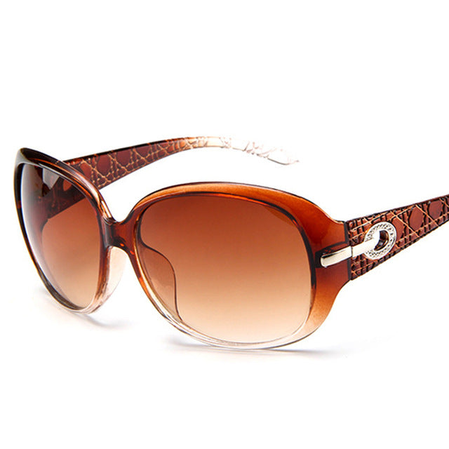 Luxury Eye wear Frame Elegant Rhinestone Ladies Sun Glasses UV 400