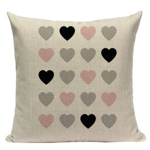 Pink Geometric Nordic  Cushion Cover Pillowcase