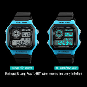LED Digital Sports Watch Male