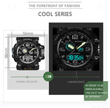 G style military sports watch with waterproof LED watch