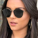 Women Luxury Cute Rimless Sun Glass For Ladies