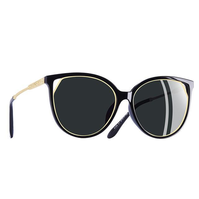 Polarized Cat Eye Sun Glasses For Women Rhinestone Temple UV400
