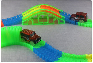 Led Light Glow Racing Flexible Tracks with LED Car