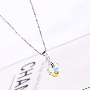 Cute Mini Xilion heart pendant necklace with crystal